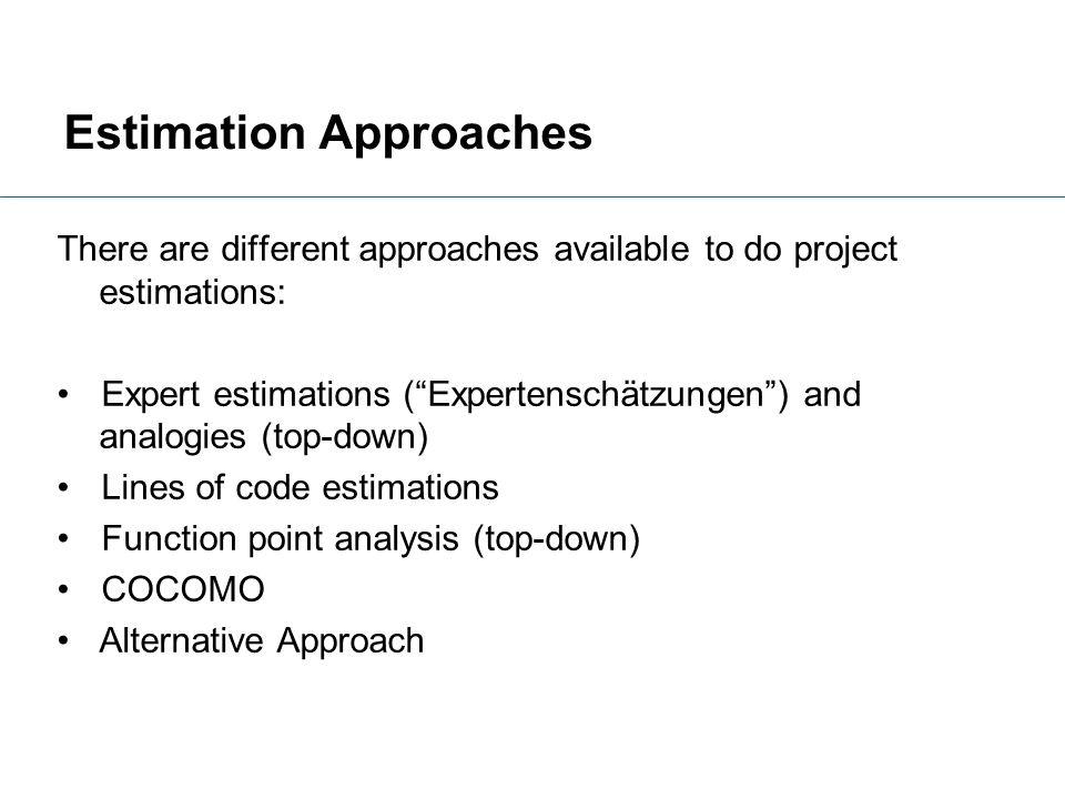 Estimation Approaches