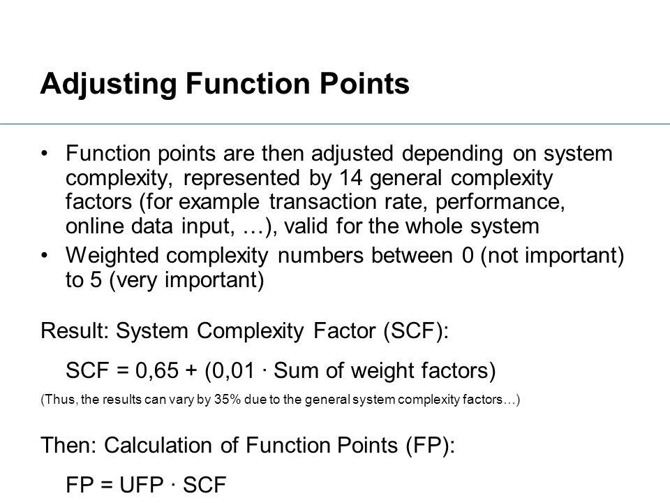 Adjusting Function Points