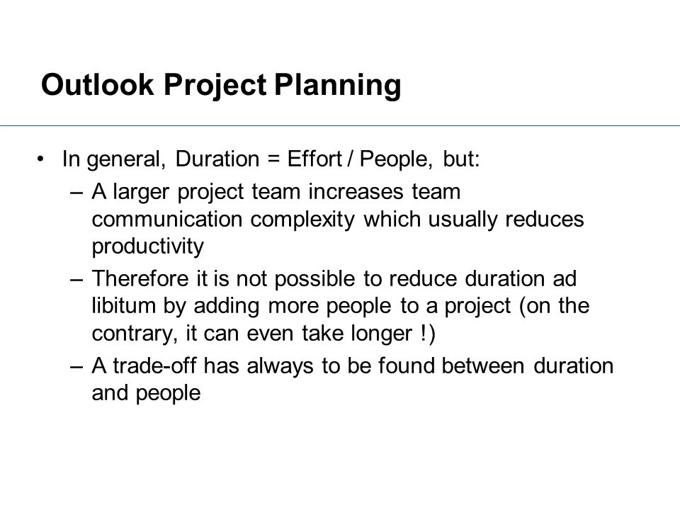 Outlook Project Planning