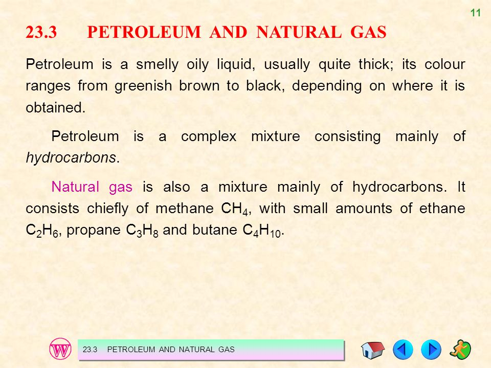 23.3 PETROLEUM AND NATURAL GAS
