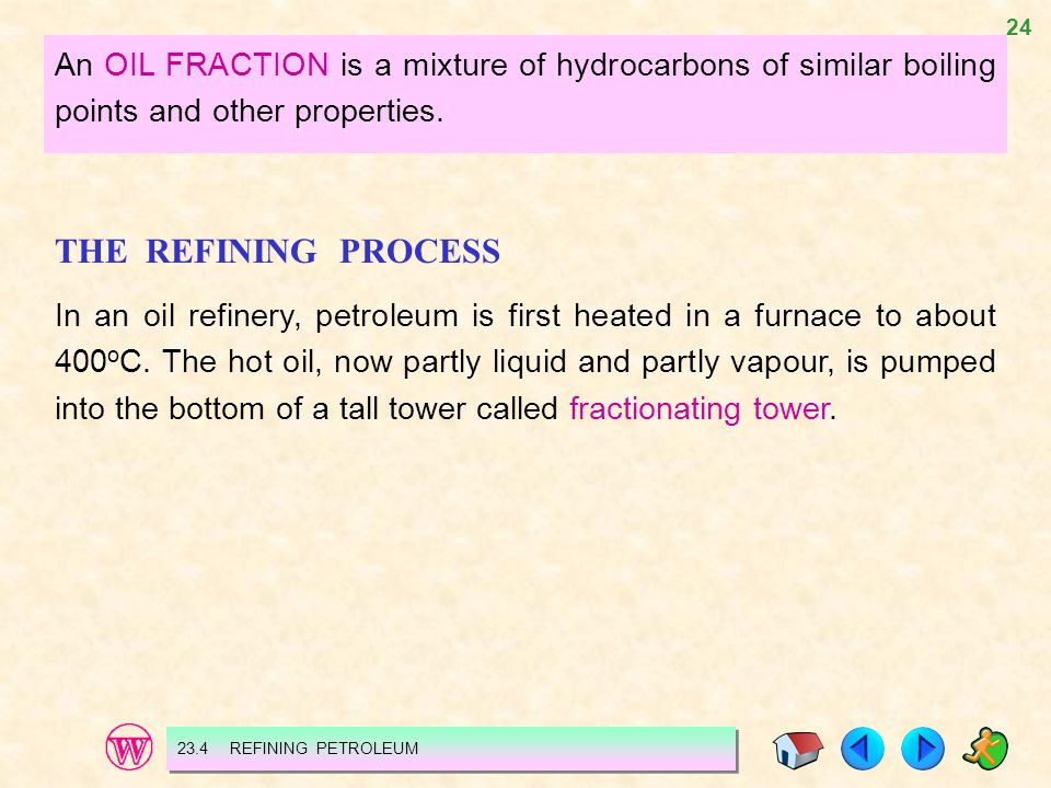An OIL FRACTION is a mixture of hydrocarbons of similar boiling points and other properties.