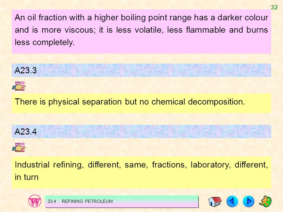 There is physical separation but no chemical decomposition.