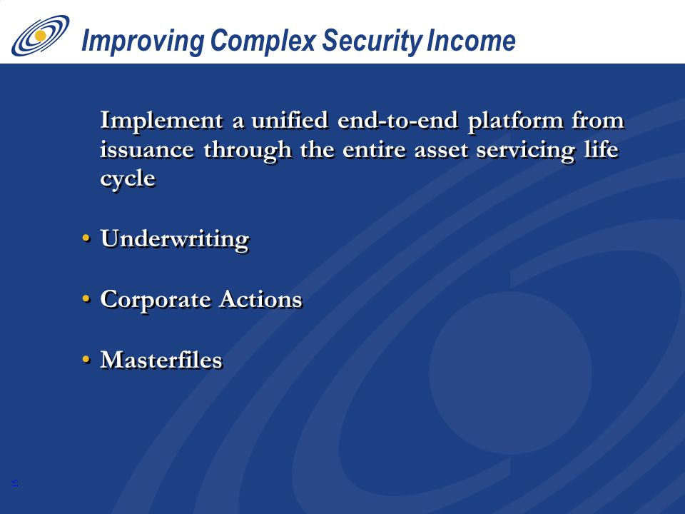 Improving Complex Security Income
