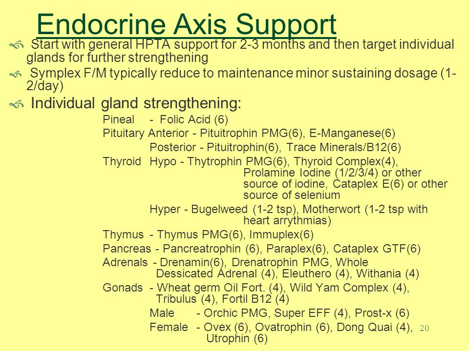 Endocrine Axis Support