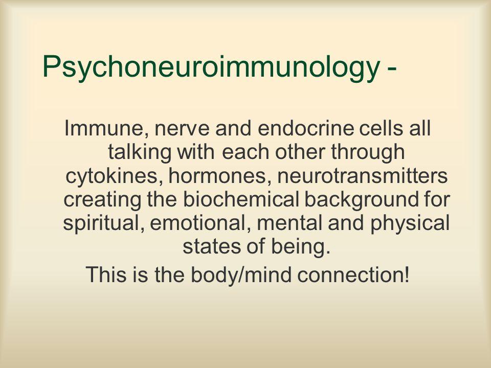Psychoneuroimmunology -