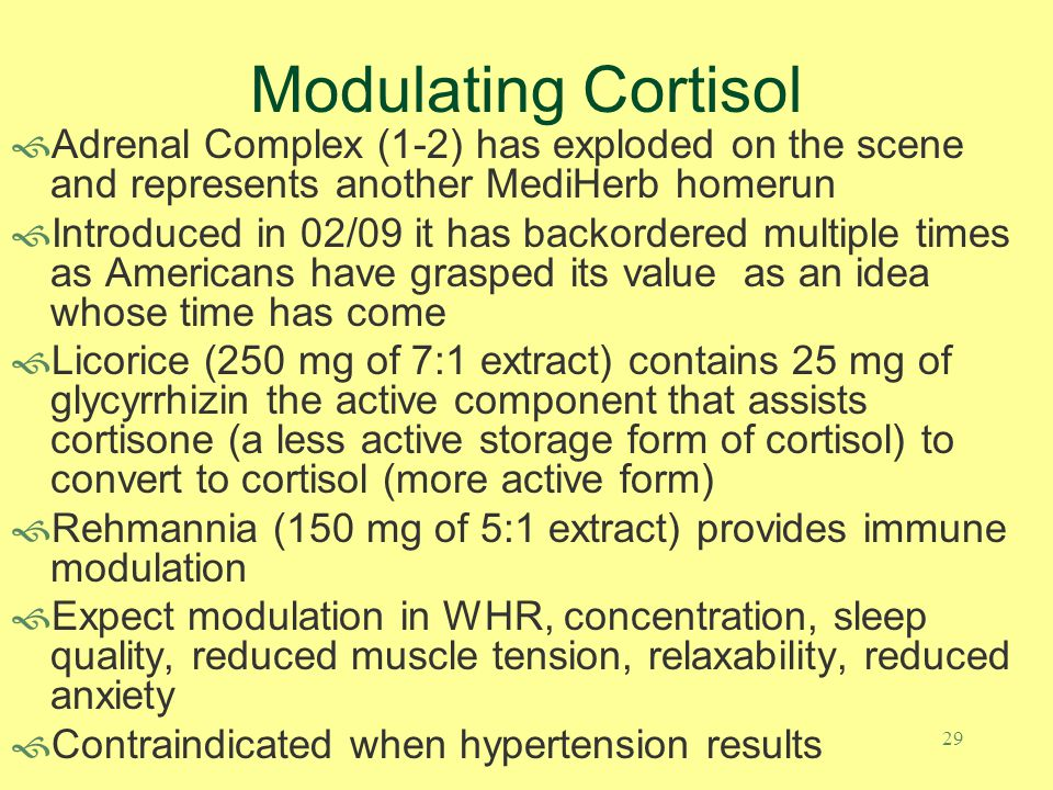 Modulating Cortisol Adrenal Complex (1-2) has exploded on the scene and represents another MediHerb homerun.