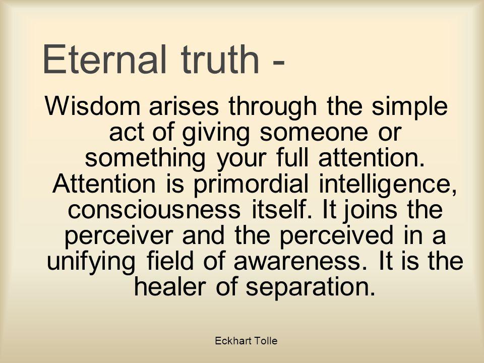 Eternal truth -
