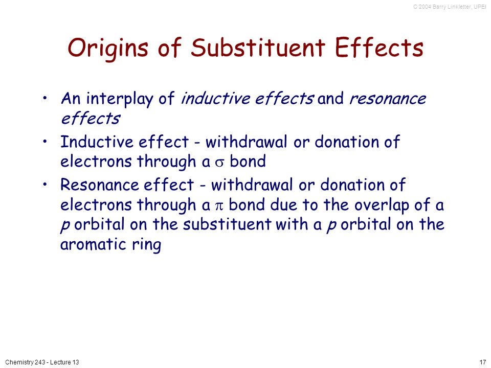Origins of Substituent Effects