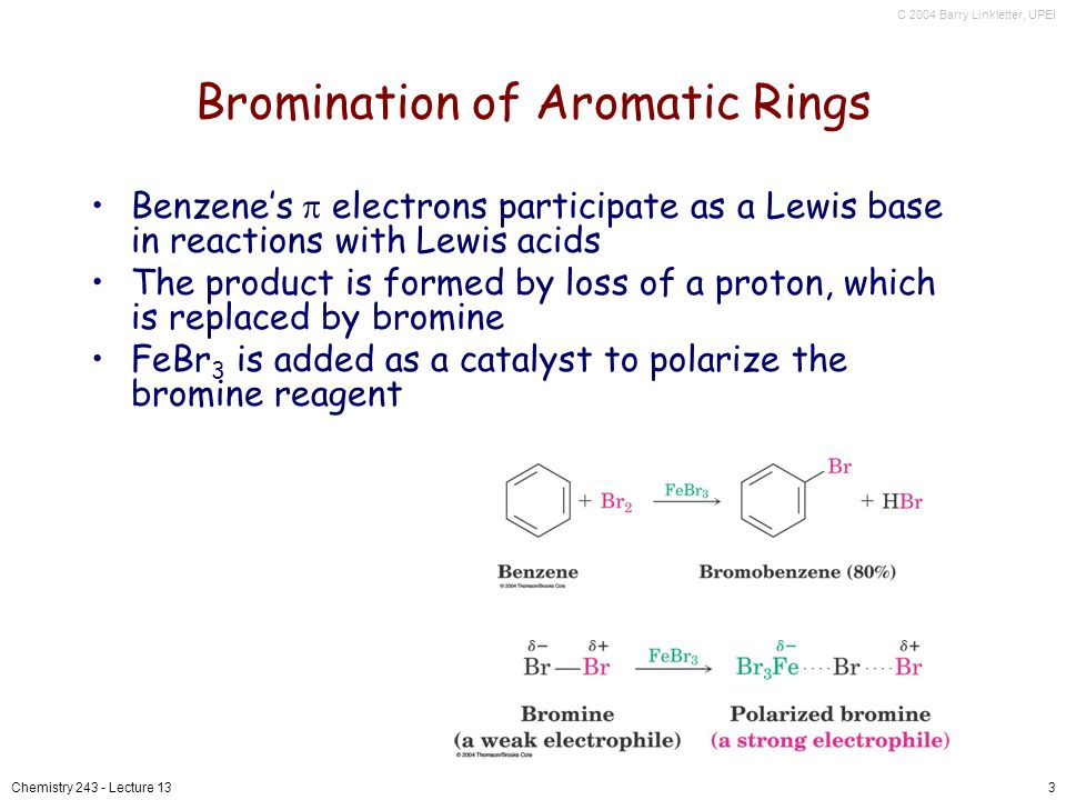 Bromination of Aromatic Rings