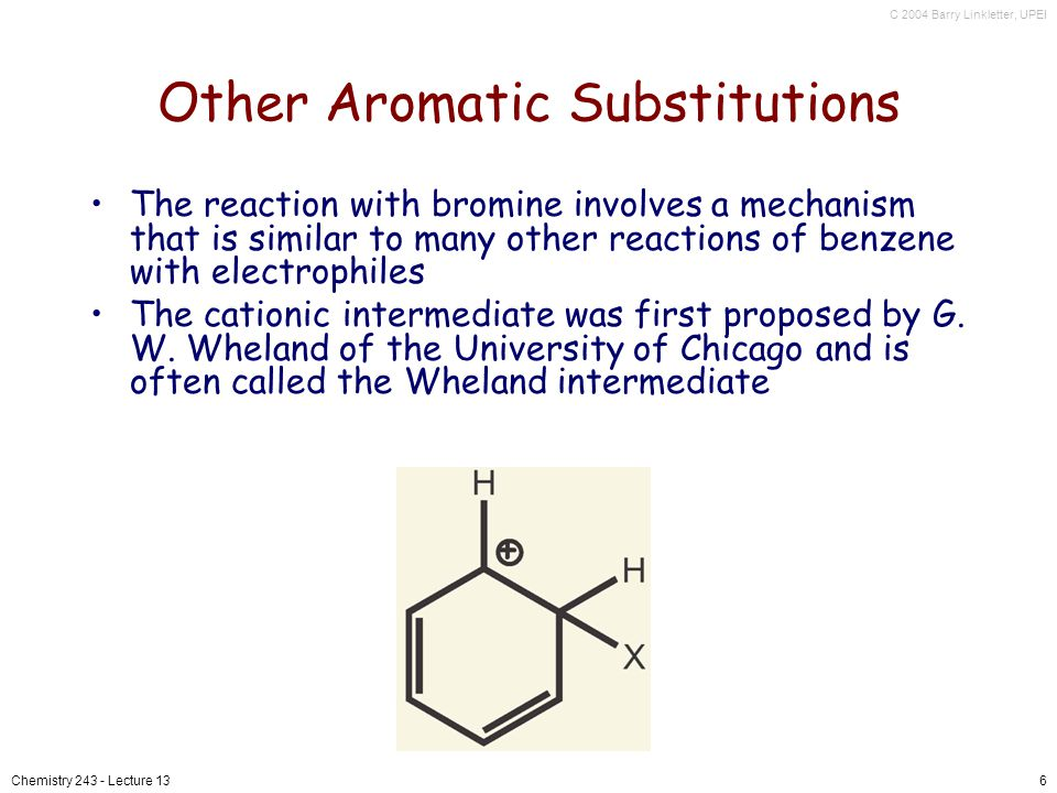 Other Aromatic Substitutions