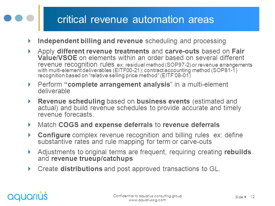 critical revenue automation areas