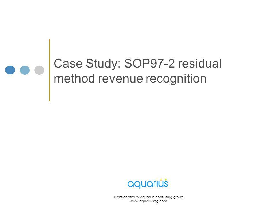 Case Study: SOP97-2 residual method revenue recognition
