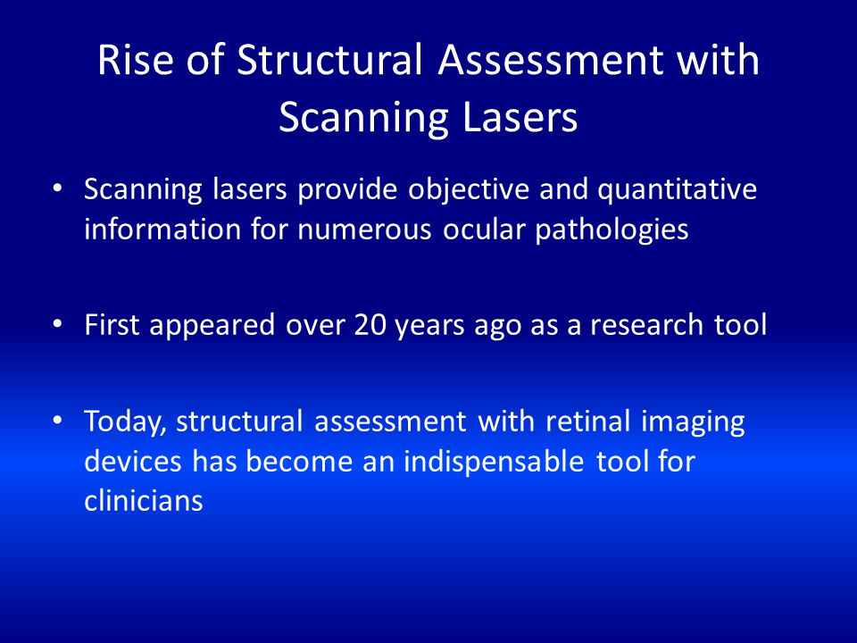 Rise of Structural Assessment with Scanning Lasers