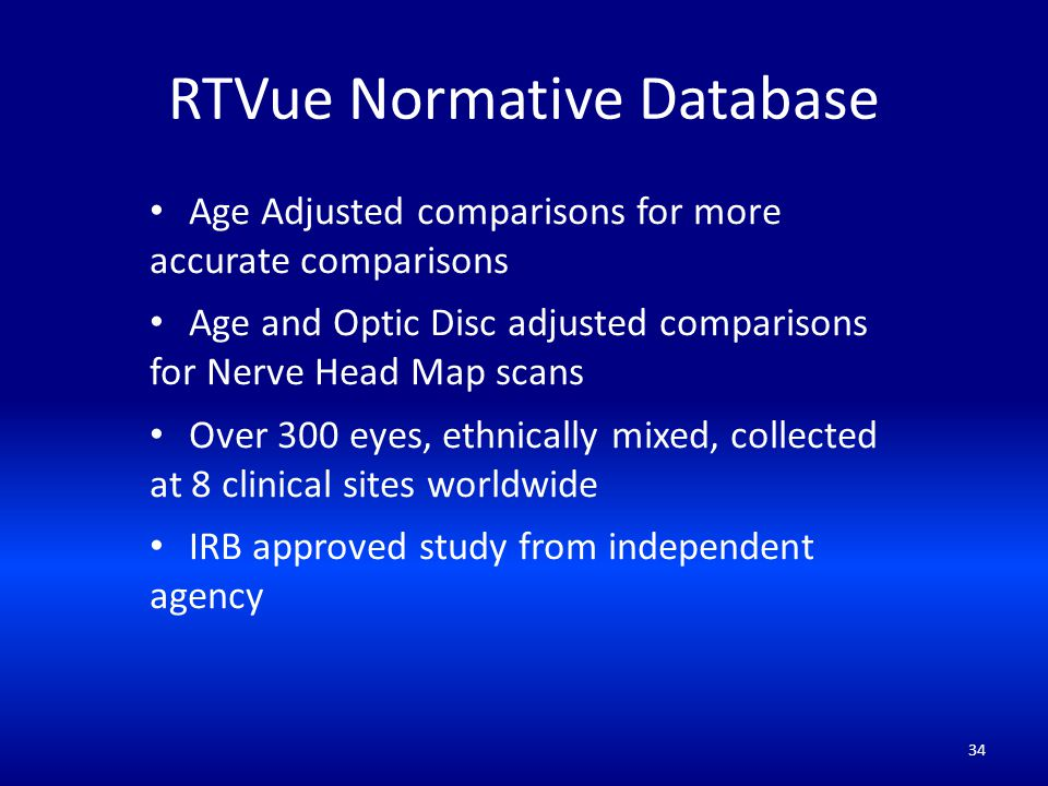 RTVue Normative Database
