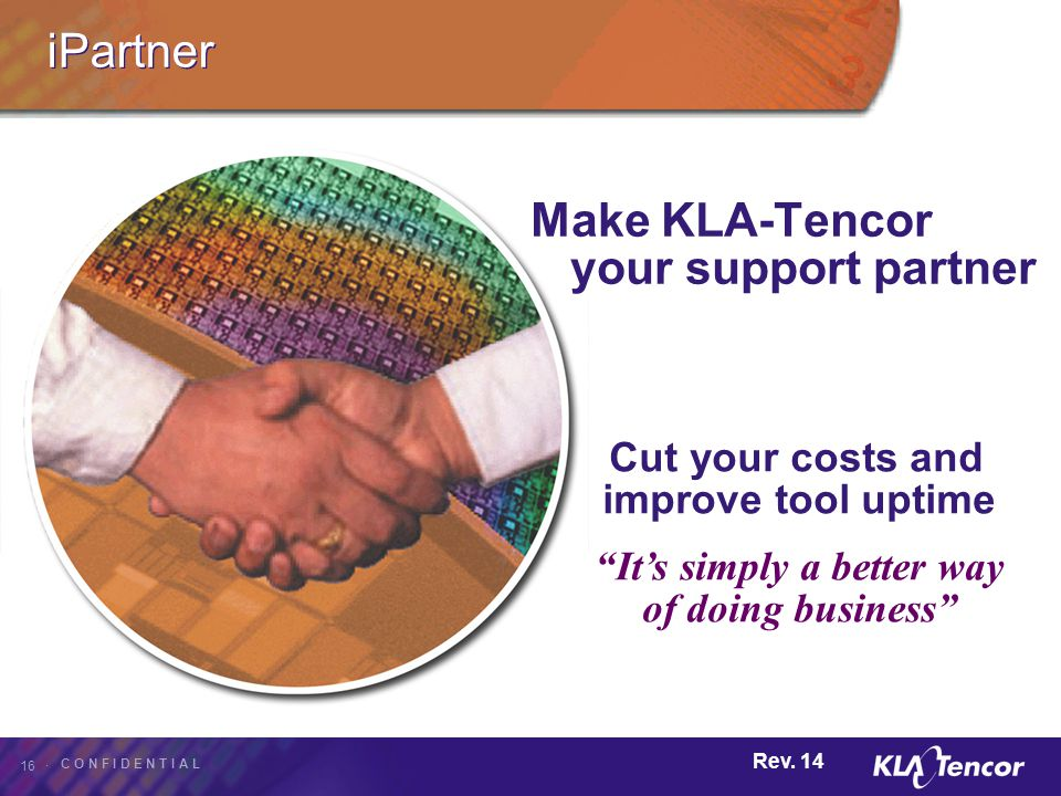 Make KLA-Tencor your support partner