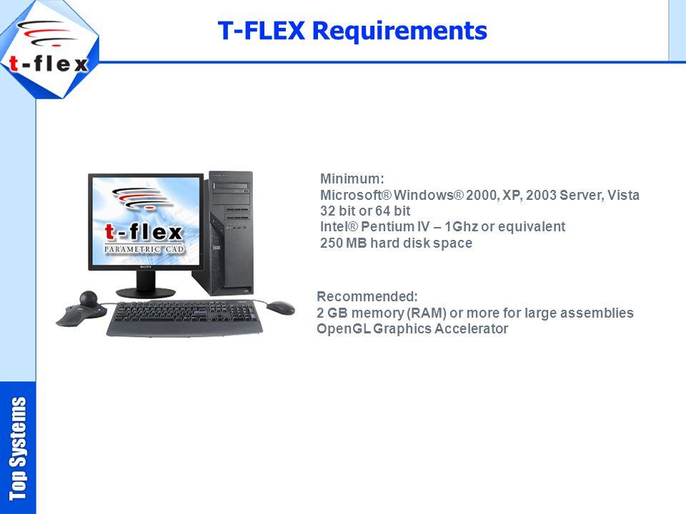 T-FLEX Requirements Minimum: