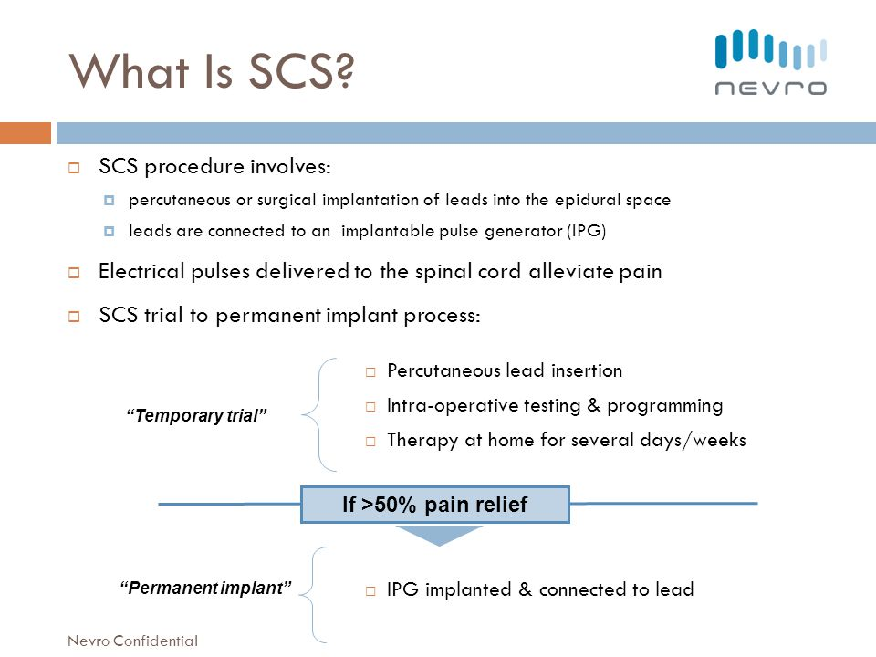 What Is SCS SCS procedure involves: