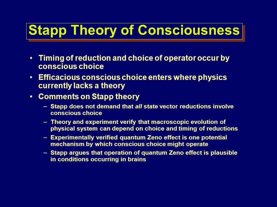 Stapp Theory of Consciousness