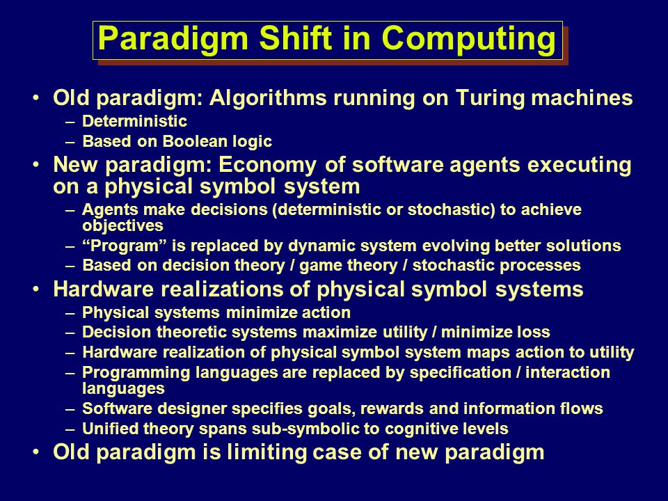 Paradigm Shift in Computing