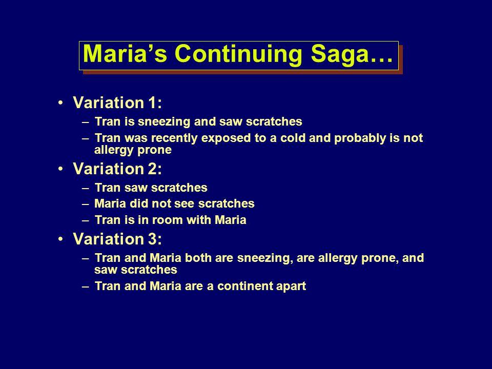 Maria's Continuing Saga…