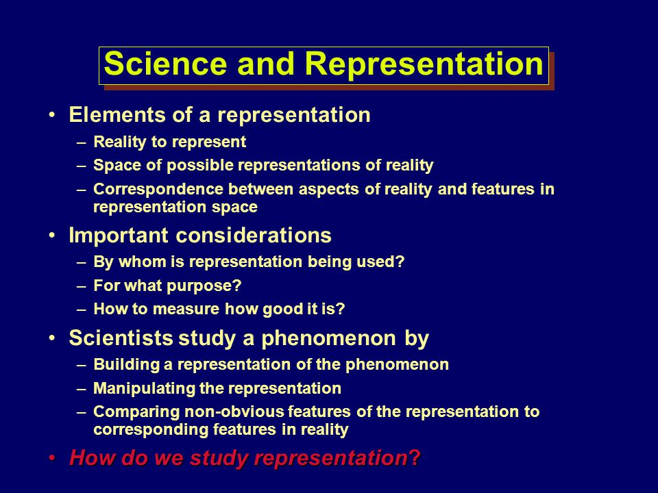 Science and Representation