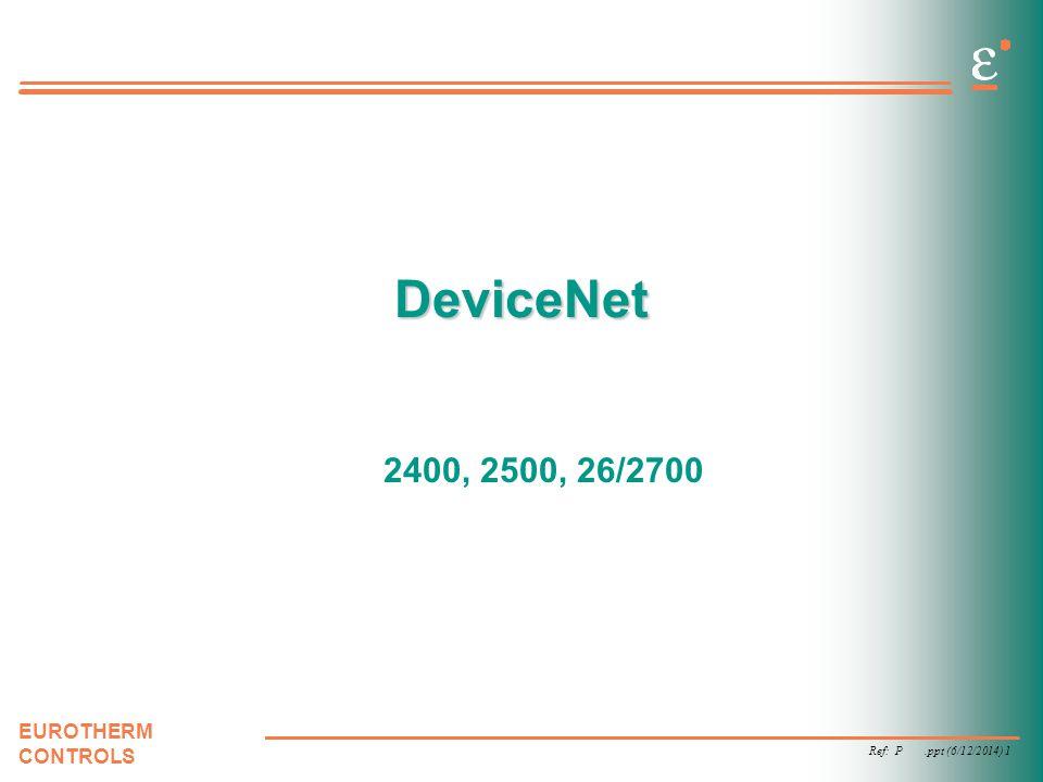 DeviceNet 2400, 2500, 26/2700