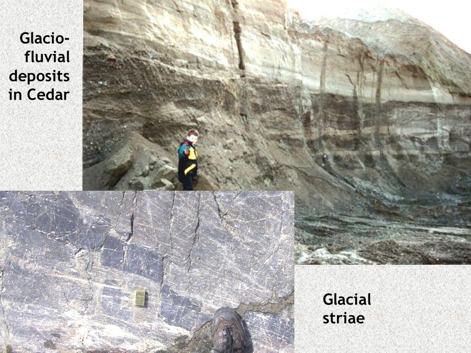 Glacio-fluvial deposits in Cedar