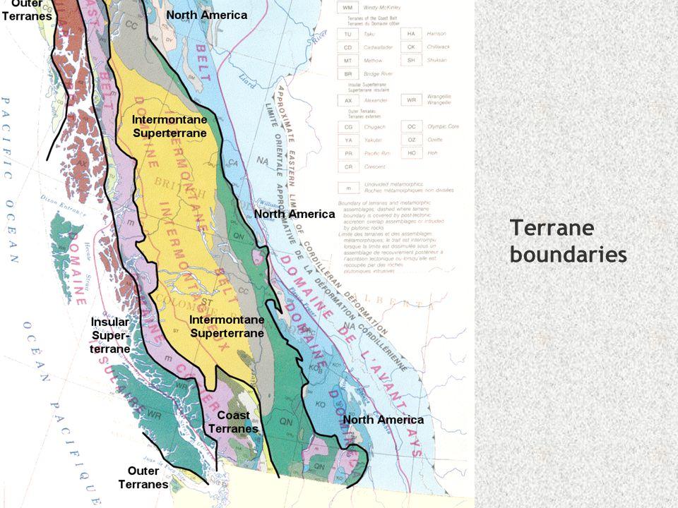 Terrane boundaries