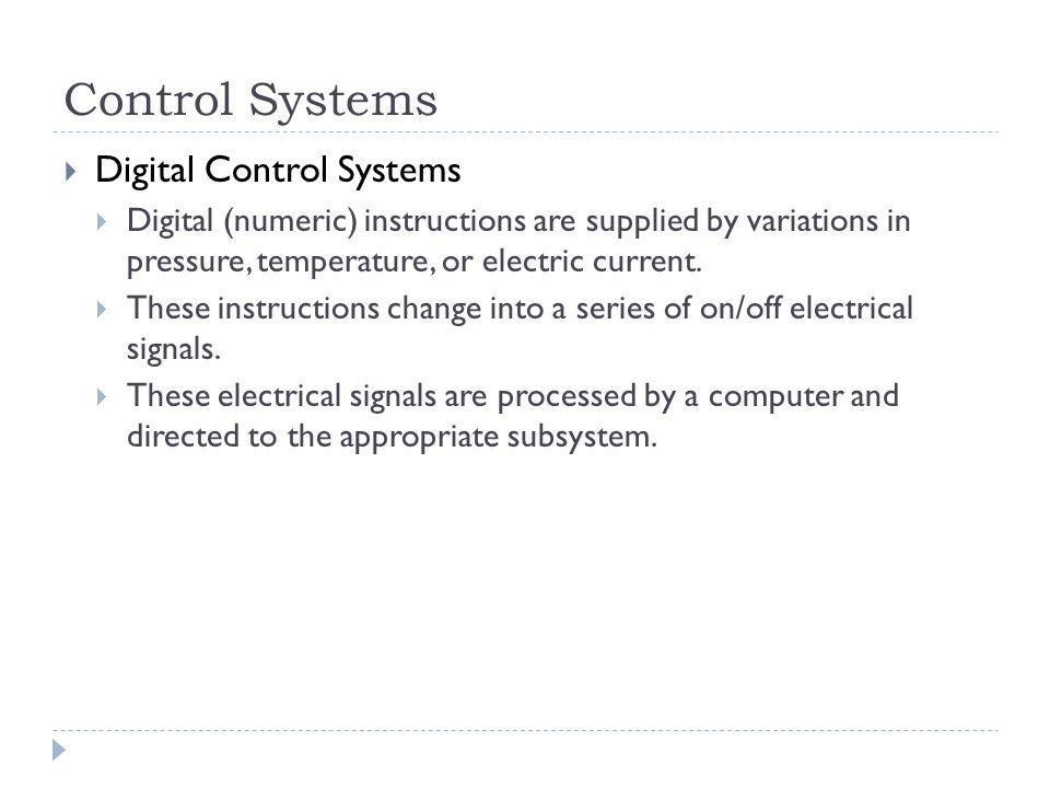 Control Systems Digital Control Systems