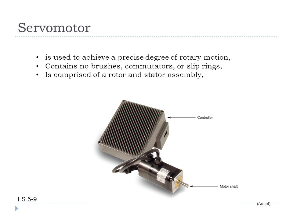 Servomotor is used to achieve a precise degree of rotary motion,