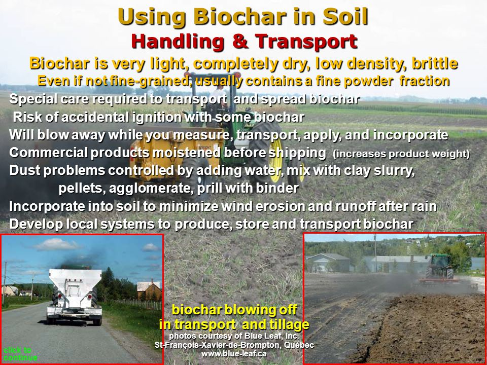 Using Biochar in Soil Handling & Transport
