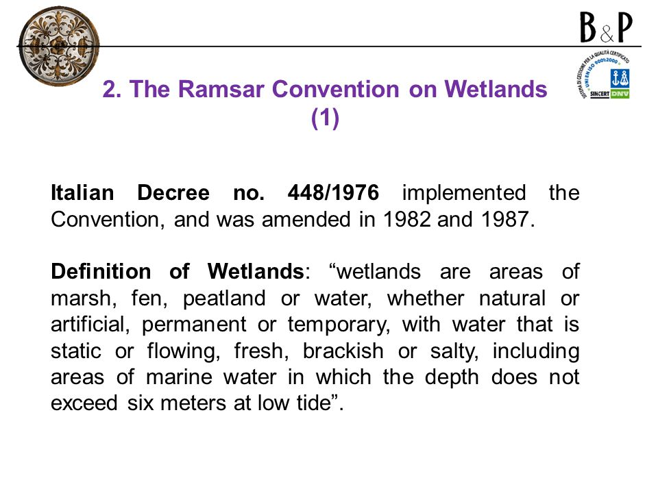 2. The Ramsar Convention on Wetlands (1)