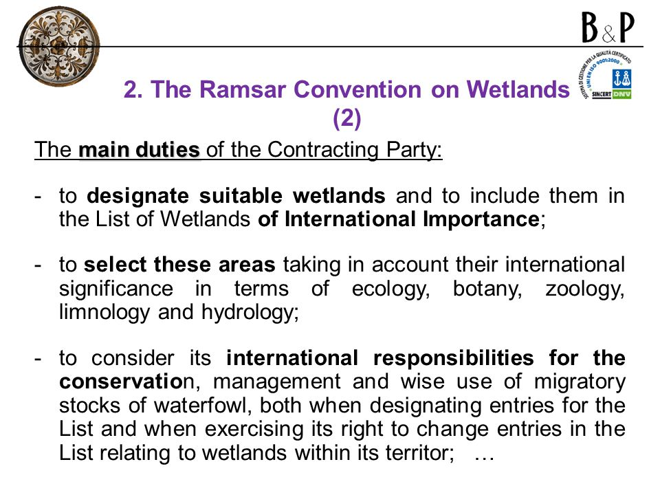 2. The Ramsar Convention on Wetlands (2)