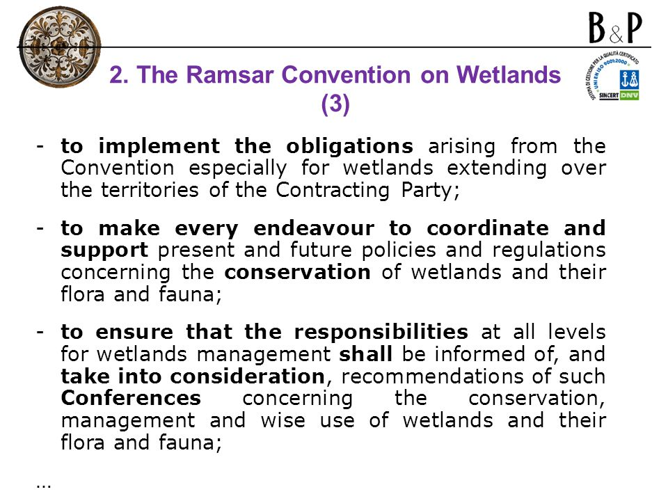 2. The Ramsar Convention on Wetlands (3)