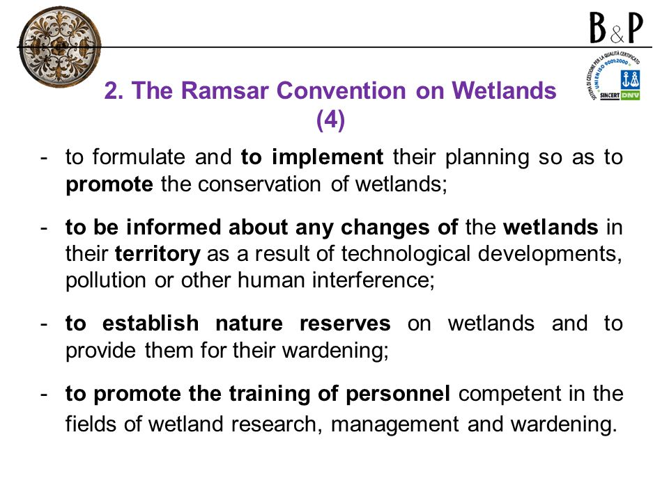 2. The Ramsar Convention on Wetlands (4)