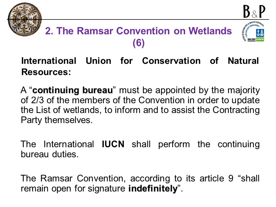 2. The Ramsar Convention on Wetlands (6)