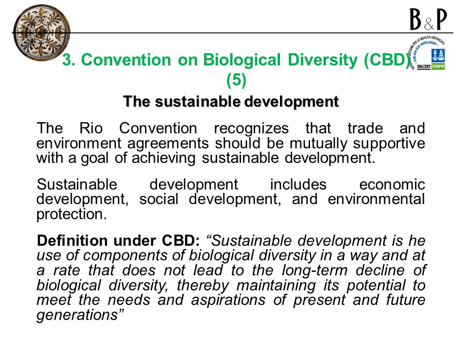 3. Convention on Biological Diversity (CBD) (5)