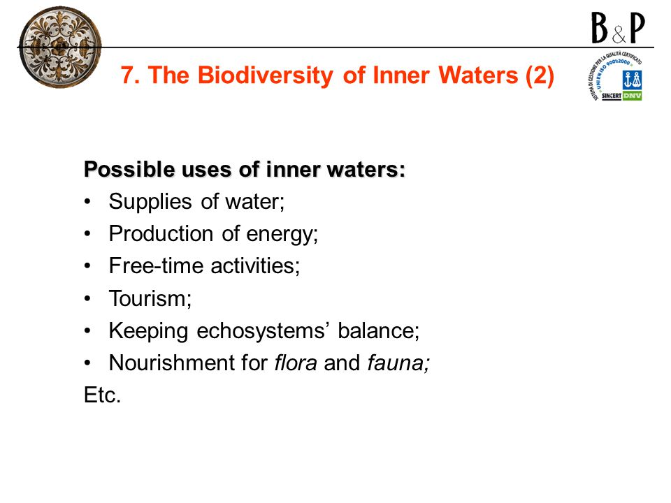 7. The Biodiversity of Inner Waters (2)