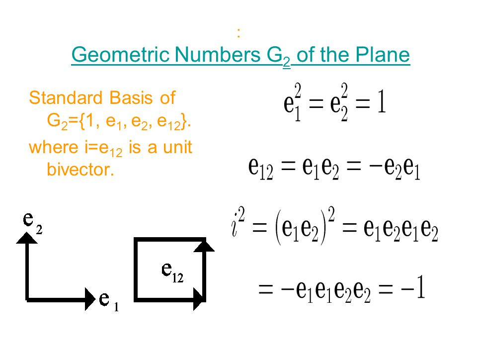 : Geometric Numbers G2 of the Plane