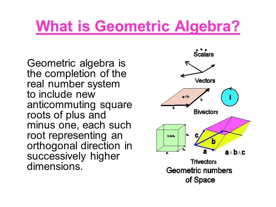 What is Geometric Algebra