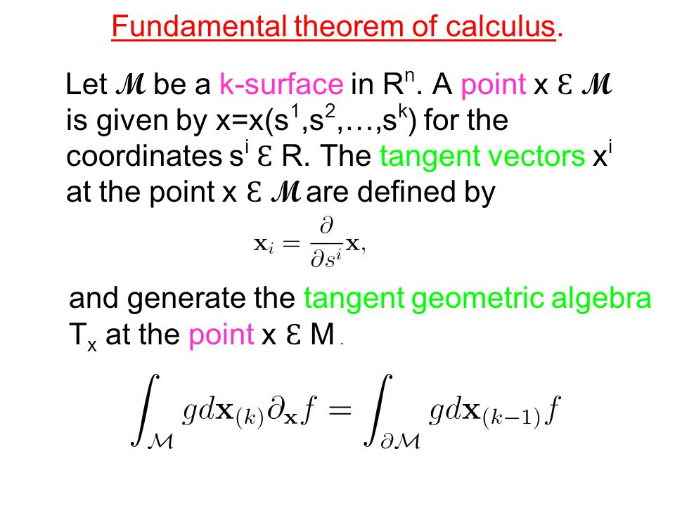 Fundamental theorem of calculus.