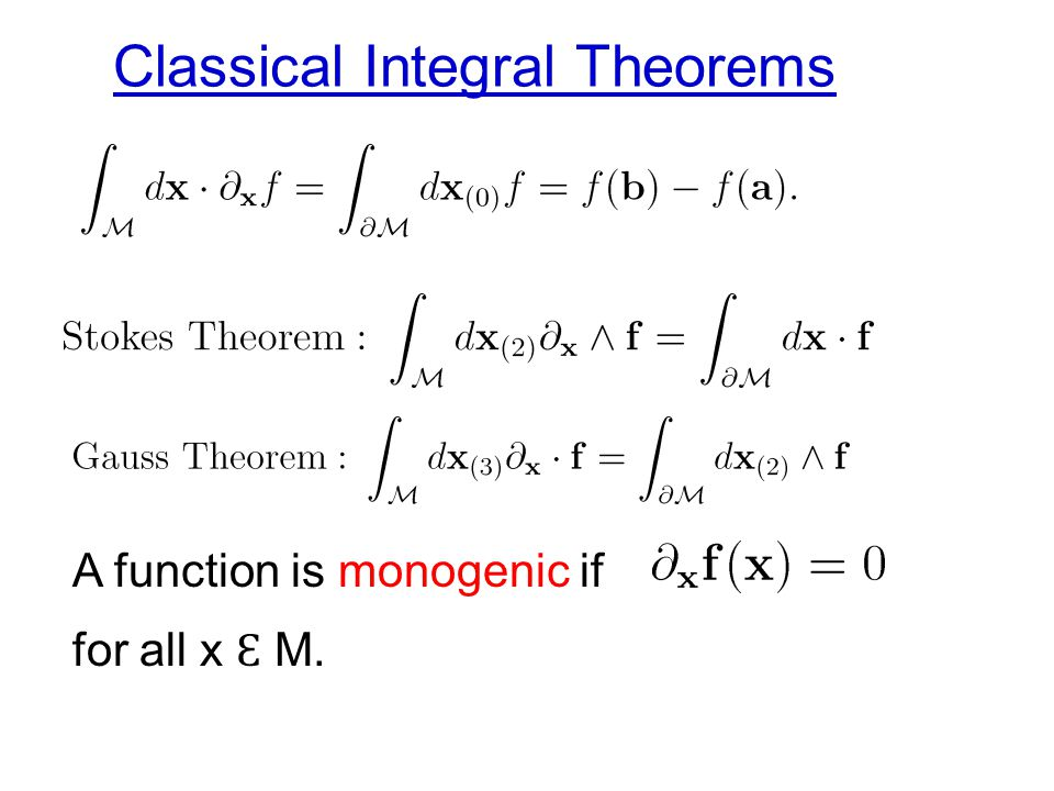 Classical Integral Theorems