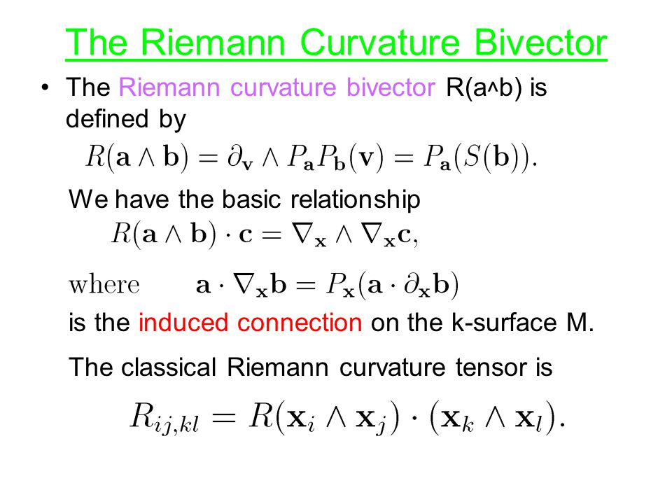 The Riemann Curvature Bivector