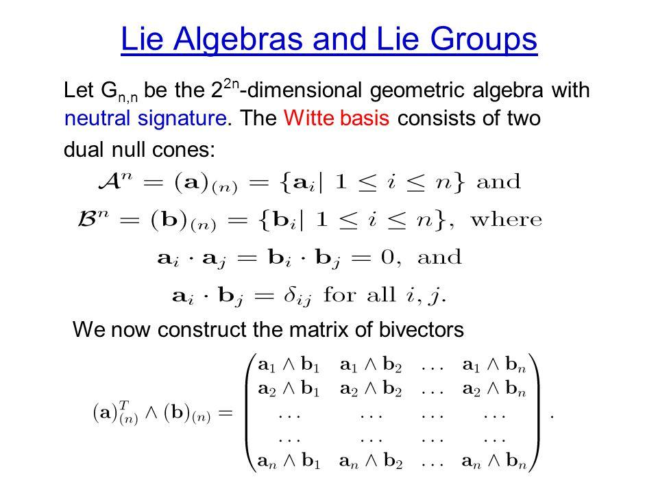 Lie Algebras and Lie Groups