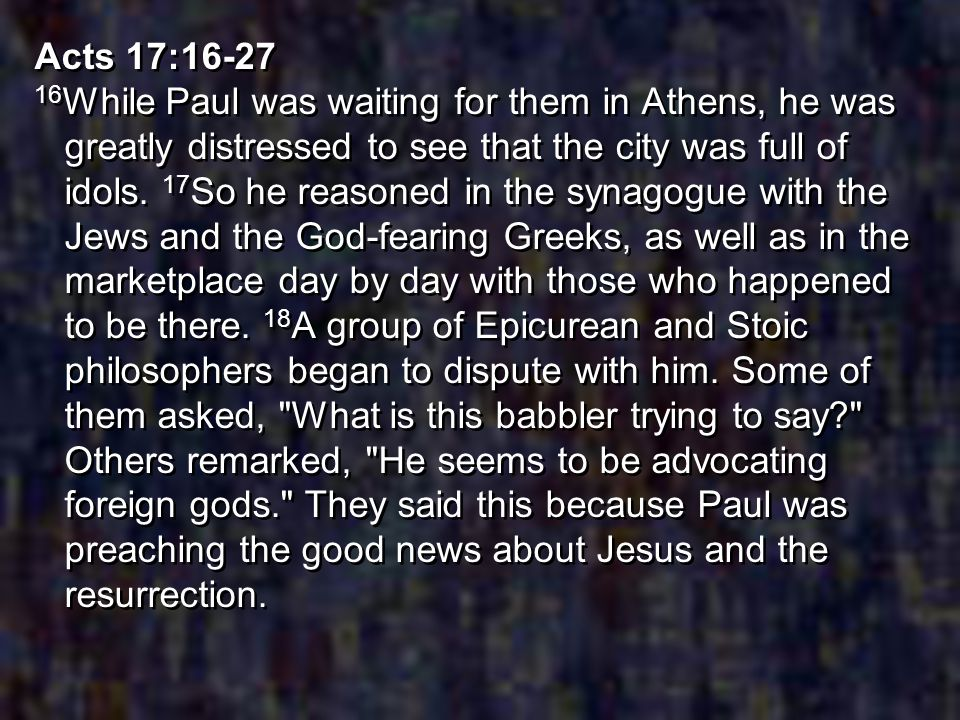 Acts 17:16-27