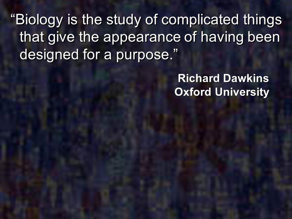 Richard Dawkins Oxford University
