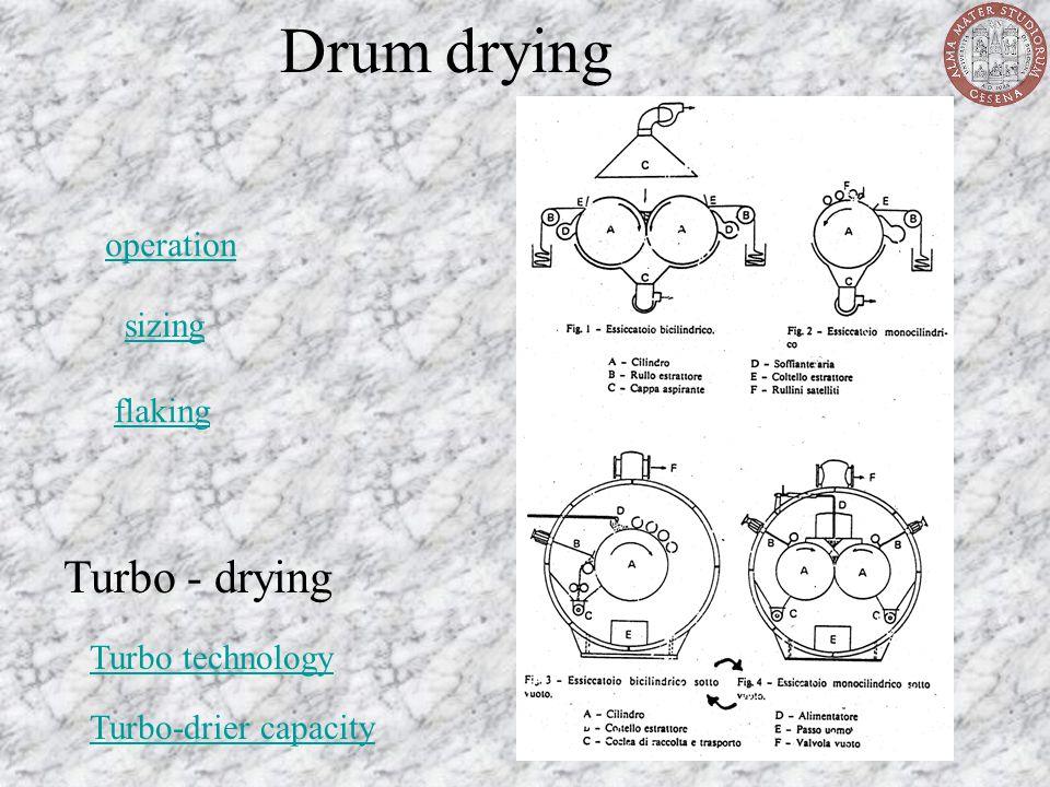 Drum drying Turbo - drying operation sizing flaking Turbo technology