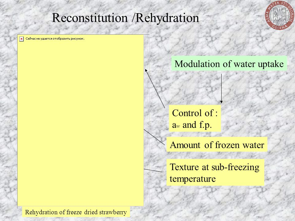 Reconstitution /Rehydration