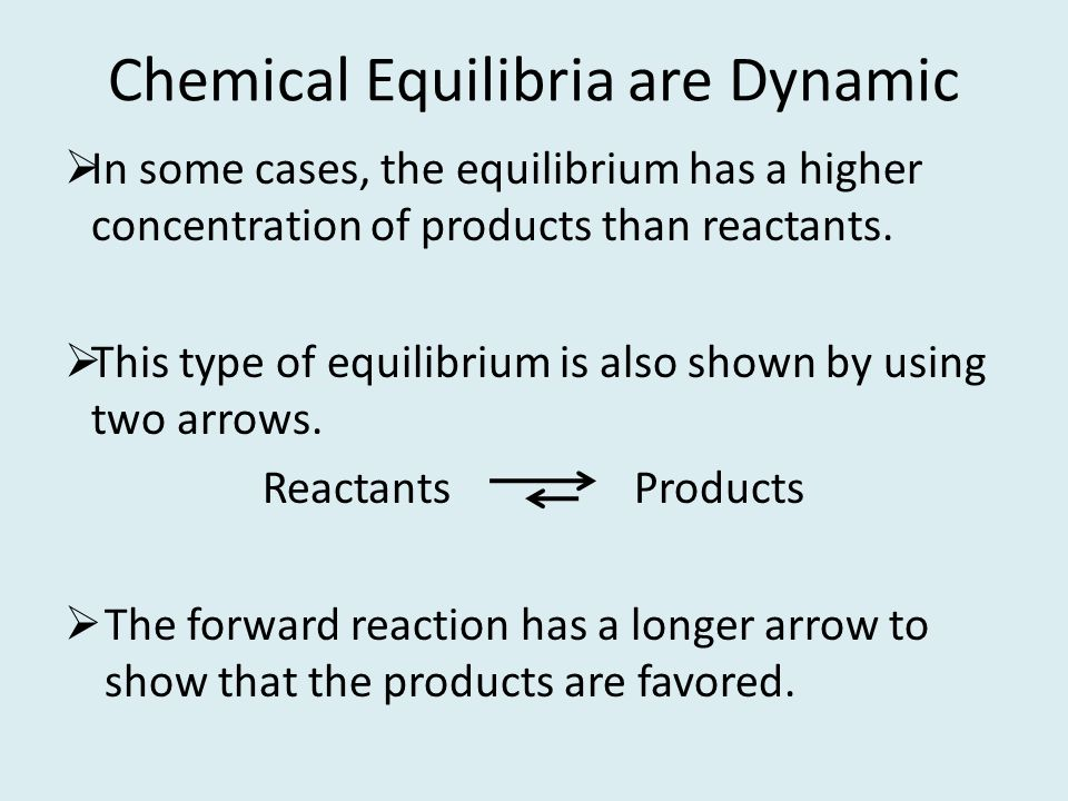Chemical Equilibria are Dynamic