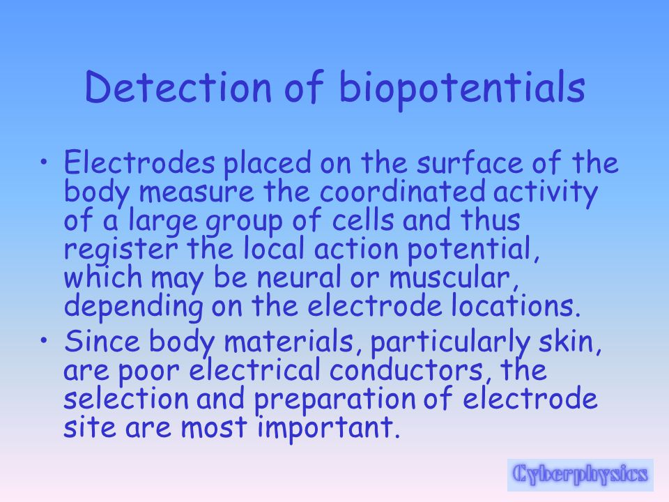 Detection of biopotentials